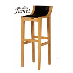 Tabouret de bar contemporain en chêne