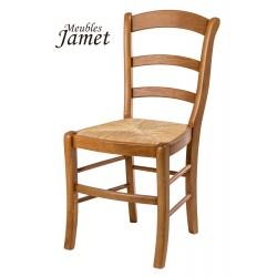 Chaise de cuisine rustique en chêne