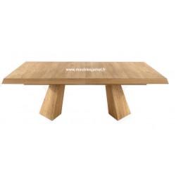Table rectangulaire contemporaine chêne massif