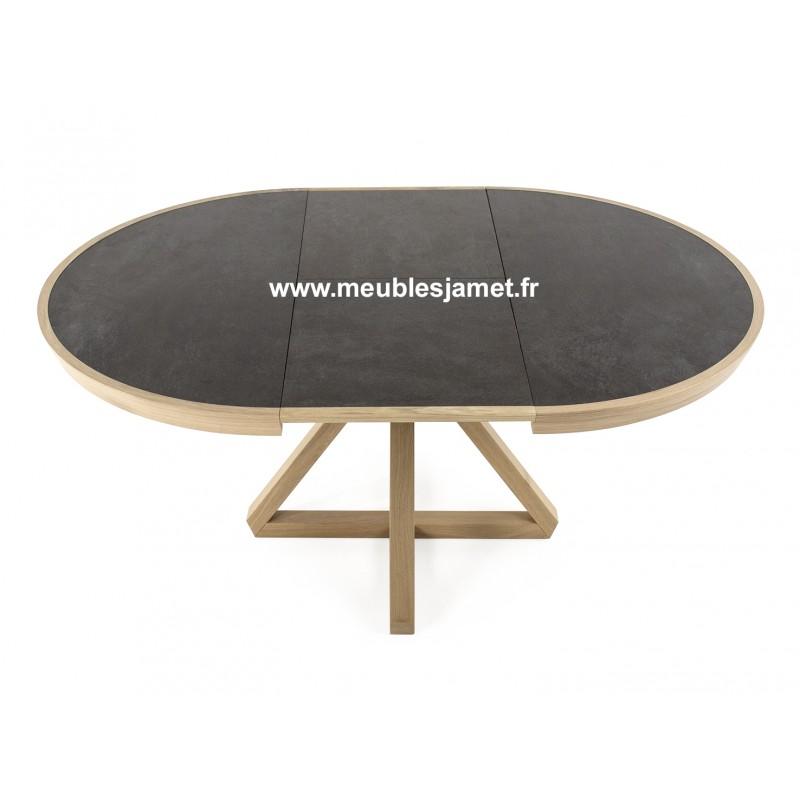 Tables ronde dessus en c ramique meublesjamet - Table salon dessus ceramique ...