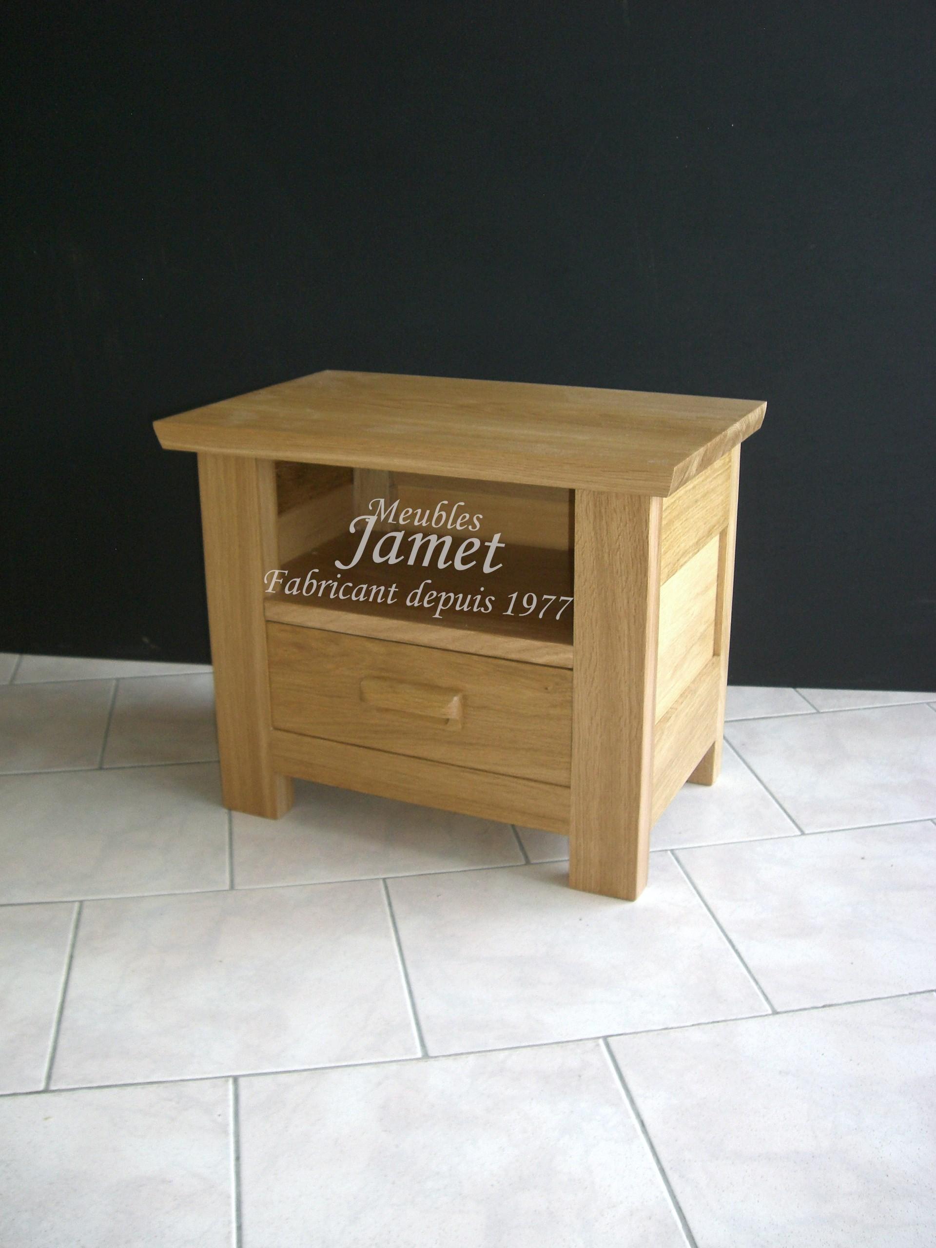 Chevet contemporain en chêne - MeublesJamet