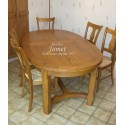 Table ovale en bois pieds chanfreins
