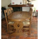 Table ovale en bois pied monastère
