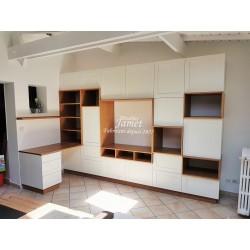 Bibliothèque bureau meuble TV