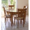 Table ronde Louis Philippe en merisier