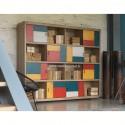 Bibliothèque de style Atelier 8 portes coulissantes