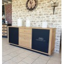 Buffet enfilade 2 portes coulissantes style Atelier