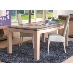 Table contemporaine en chêne rectangulaire