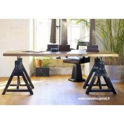 Table Style Industriel bois et métal