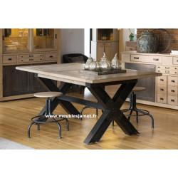 Table style Industriel piétement X