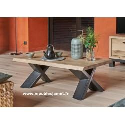 Table basse rectangulaire pied métal