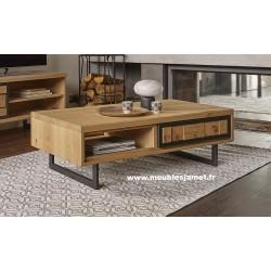Table basse Style Contemporain chêne et métal