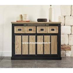 Petit meuble d'entrée Style Industriel Réf. A EU65 B