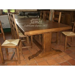 Table pied poutre